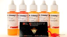A review of five flavors from Dr. Crimmy's V-Liquid. Their e-liquid is produced in a sterile lab with an ingredient analysis report for each flavor. Bottles come in 60, 125 and 500ml sizes with custom labels, nine nicotine levels and four vg/pg ratios to choose from. More info: http://www.darthvaporreviews.com/dr-crimmys-e-liquid-review.html #vape #vaping #eliquid #ejuice #vapelife #reviews