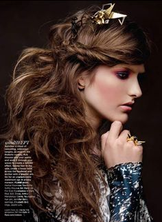 """FLARE Nov/11 """"Spellbound"""" Hair and Makeup by Tony Masciangelo,   Photography by Zhang Jingna   Beauty Direction: Kristen Vinakmens"""