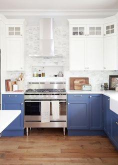 jillian harris blue and white kitchen