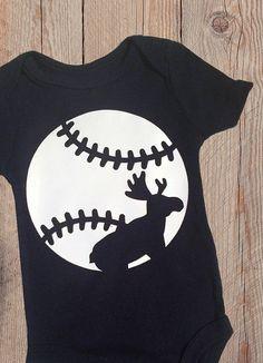 Moustakas Moose KC Royals Baseball Baby Onesie by ThePaperShelf