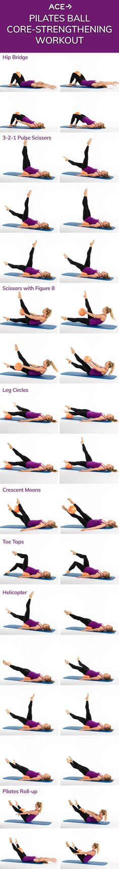 The Pilates Ball Core-Strengthening Workout #pilatesejercicios