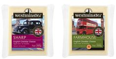 We used iconic London images to help sell this cheese to the American market