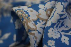 Sky Flower Blue - Poly - Tessuti Fabrics - Online Fabric Store - Cotton, Linen, Silk, Bridal & more