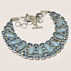 Queen of all the pure gemstones, the Larimar is persistently in vogue amongst jewelry lovers around the globe. The Larimar necklace expresses love, sophistication and passion. In other words, you have