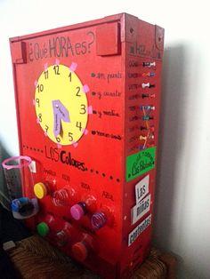 Parte trasera de la máquina y el otro lateral. Montessori Activities, Preschool Learning, Teaching Time, Monthly Themes, Everyday Activities, Classroom, Creative, Kids, Homeschooling