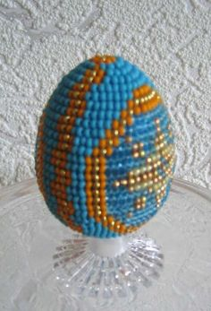 Decorated Beaded Easter Egg from beads-making.com