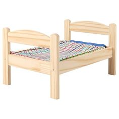 IKEA - DUKTIG, Doll bed with bedlinen set, pine, multicolor, Encourages role play. Recommended for children 18 months and older. Playroom Furniture, Doll Furniture, Kids Furniture, Furniture Vintage, Armoire Pax, Ikea Duktig, Kallax Shelf Unit, Cama Ikea, Ikea Canada