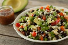 Add diced #avocado to any of your grain-based salads. Try this: Israeli Couscous and California Avocado Salad