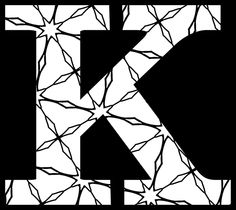 Here's a Set of Printable Alphabet Letters to Download and Print: Printable Letter K (With Pattern to Color)