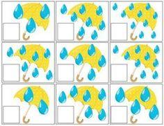 Działania matematyczne wiosna parasol