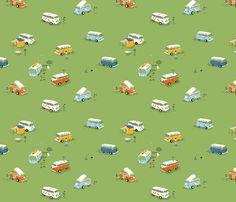 buses fabric by heatherross on Spoonflower - custom fabric