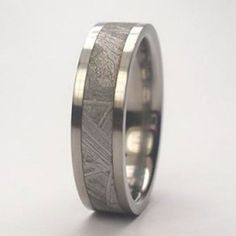 Meteorite Ring Gift for Him Man Wedding Ring by jewelrybyjohan
