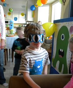 """monster game and blindfold cute """"pin the eyeball on the monster game"""""""