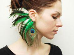 Feather Ear Cuff  Izel by Njuu on Etsy, $27.00