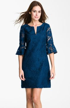 Ruffle Sleeve Lace Dress