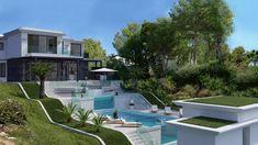 Modern villa in - Bendinat Golf, Mallorca Outdoor Furniture Sets, Outdoor Decor, Cool Pools, My House, The Neighbourhood, Villa, Golf, Real Estate, Skylights