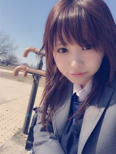 楠ろあ JK 制服 ブレザー Asian Cute, Cute Asian Girls, Beautiful Asian Girls, Cute Girls, School Girl Japan, Japan Girl, Cute Japanese Girl, Japanese School, Japanese Beauty