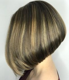 Sleek Inverted Bob for Fine Hair Inverted Hairstyles, Layered Bob Hairstyles, Pixie Haircuts, Medium Hairstyles, Braided Hairstyles, Inverted Bob Cuts, Angled Bobs, Stacked Bobs, Layered Bobs