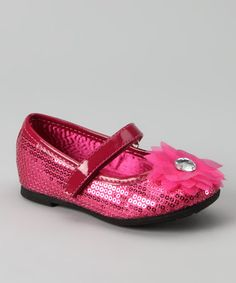 Take a look at this Hot Pink Sequin Arianna Mary Jane by Rampage on #zulily today!
