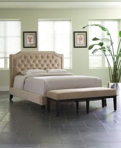 I've decided that I need a tufted headboard.