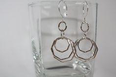 Triple Octagon Earrings by Danielledunlap on Etsy, $79.00
