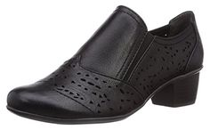 Marco Tozzi 24502, Damen Slipper, Schwarz (Black Antic/2), 41 EU (7.5 Damen UK) - Slipper und mokassins für frauen (*Partner-Link)