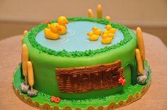 Teacher's thank you cake with ducks