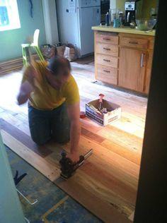 Pallet wood floor. - Imgur
