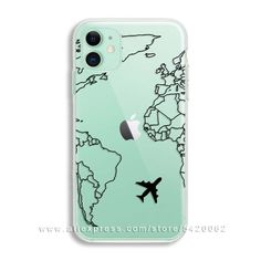 Luxury World Map Travel Soft TPU Phone Case For Iphone 11 Pro XR XS Max Clear Silicone Cover For Iphone 6 7 8 Plus - Polarreut kamaras bemalung Rollschuhe und Airpods - Phonecases Girly Phone Cases, Pretty Iphone Cases, Art Phone Cases, Diy Iphone Case, Phone Cases Samsung Galaxy, Iphone Case Covers, Accessoires Iphone, Coque Iphone, Iphone Se