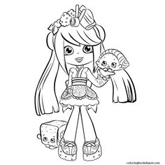 Shopkins Shoppies coloring pages printable and coloring book to print for free. Find more coloring pages online for kids and adults of Shopkins Shoppies coloring pages to print. Shopkin Coloring Pages, Easy Coloring Pages, Coloring Sheets For Kids, Coloring Pages To Print, Free Printable Coloring Pages, Coloring Books, Kids Coloring, Poppy Coloring Page, Shopkins And Shoppies