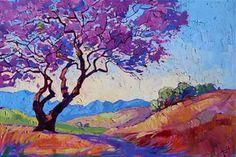 Jacaranda - Erin Hanson Prints - Buy Contemporary Impressionism Fine Art Prints Artist Direct from The Erin Hanson Gallery Erin Hanson, Landscape Art, Landscape Paintings, Landscapes, Desert Landscape, Oil Paintings, Modern Impressionism, Henri Matisse, Tree Art