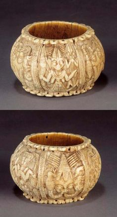 Pair of ivory bracelets from the Yoruba people of Owo, Nigeria.  ca. 16th - 18th century