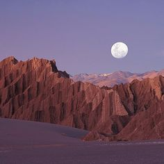 No matter where you are in the world, we all see the same moon. It's just that it looks better in South America.  Location: Super moon rising over Valle de la Muerte (Death Valley) - Atacama, Chile. Photo via our friends @chiletravel #southamerica