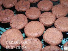 Chocolate Cake Batter Cookies. Only 4 ingredients to make! cookieshttp://mamato5blessings.com/2014/02/chocolatecakebattercookies/