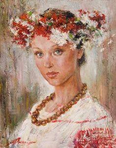 Anna Vinogradova - Portrait of a Girl in Midsummer Wreath