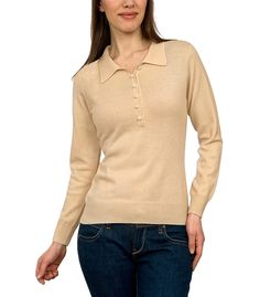 Womens Cashmere and Merino Knitted Polo Shirt
