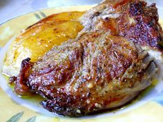 Greek Recipes, Main Dishes, Steak, Bbq, Recipies, Pork, Food And Drink, Lunch, Meals