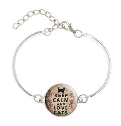 Keep Calm and Love Cats Bracelet Bangle Free   Shipping