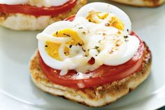 Protein-rich. Meat-free. Ready in less than 10 minutes. This genius trick for using up leftover hard-boiled eggs proves so delicious, we often find ourselves making a batch solely for the purpose of preparing these mini-pizzas. First, hard-cook two eggs. (One of our favorite methods involves a steamer basket for gentle cooking.) Peel and slice the eggs, then place them atop a few English muffin-halves, along with a glug of olive oil, sliced tomato, and shredded mozzarella before toasting…