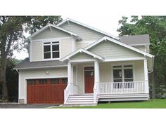 Eplans House Plan: This cozy Craftsman plan conveniently separates living and sleeping quarters, with family living areas on the first floor and bedrooms on the second. The plan begins with a vaulted lviing/dining room, and m