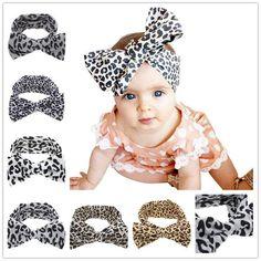 Kid's fashion accessories. Animal print big bow headband.