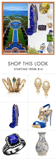 """""""Untitled #51"""" by jomanna ❤ liked on Polyvore featuring Bali, Bulgari, Accessorize, Isharya, René Caovilla, French Connection and bali wedding guest classy outfit elegant woman"""
