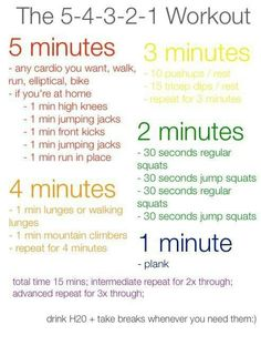 Quick home workout