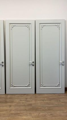 """""""Tower"""" is an elegant door in the neoclassical style. This model combines a concise design and premium production quality. A minimum of decorative details make the """"Tower"""" doors an universal solution for any interior. The cost is from 1 569 $. The basic set includes: a door leaf (size 800/2000 mm), a door frame, platbands on both sides. Flush Door Design, Flush Doors, Grill Design, Creative Video, Neoclassical, Diy Wood Projects, Floral Rug, Wooden Doors, Bathroom Medicine Cabinet"""