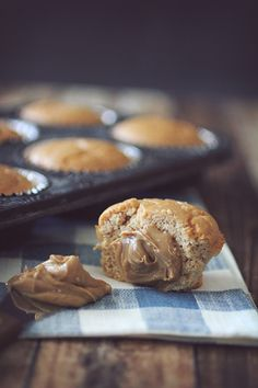 Grain Free Peanut Butter Muffins | Low-calorie and delicious! Anyone could work a few of these into their diet, give it a try.