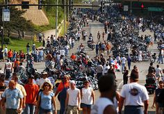 2003 More than 250,000 people come to Milwaukee for the final stop of the Open Road Tour and the Harley-Davidson 100th Anniversary Celebration and Party. Harley Davidson History, Santa Clara, Milwaukee, Dolores Park, Islam, Religion, Street View, Anniversary, Tours