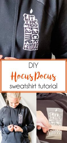 DIY Hocus Pocus Sweatshirt Tutorial - Our Thrifty Ideas Diy Cleaning Products, Autumn Inspiration, Home Improvement Projects, Kids And Parenting, Diy Crafts, Craft Ideas, Hocus Pocus, Sweatshirts, My Style