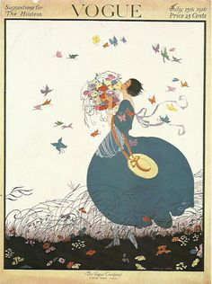 Vogue magazine cover 1916 Art Deco Fashion от OLDBOOKSMAPSPRINTS
