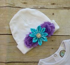 Baby Layette Set Baby Gown Set Turquoise with by TwoSewinCute