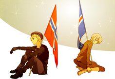 Hetalia (ヘタリア) - Norway & Iceland -「ふたりの星」/「モコキン」のイラスト [pixiv]